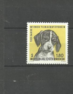 AUSTRIA 1966 - PUI DE CAINE SETTER ENGLEZ, timbru nestampilat, DF24 foto
