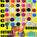 Kit Set Gel 36 Color Geluri Colorate 5ML (8G) GD COCO Lampa uv+sclipici - Gel unghii