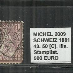 ELVETIA 1881 - 43, 50C,