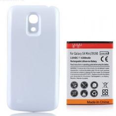 Acumulator baterie extinsa 4300 mAh  Carcasa  alba Samsung Galaxy S4 mini 9190