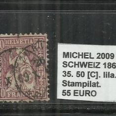 ELVETIA 1867-81 - 35. 50C.