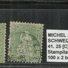 ELVETIA 1881 - 41. 25C,