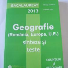 GEOGRAFIE BACALAUREAT SINTEZE SI TESTE, ENUNTURI SI REZOLVARI ! - Teste Bacalaureat