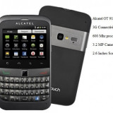 Smartphone ALCATEL OT 916 Black touch&qwerty - Telefon Alcatel, Negru, 4GB, Neblocat, Single SIM, Single core