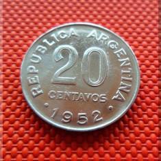 Moneda 20 Centavos - Argentina 1952 (a.Unc) *cod 84, America Centrala si de Sud