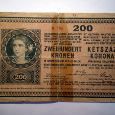 117. AUSTRIA UNGARIA 200 KRONEN KORONA 1918 UNIFATA SR. 999