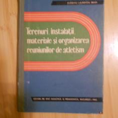 BRAN--TERENURI, INSTALATII, MATERIALE SI ORGANIZAREA REUNIUNILOR DE ATLETISM
