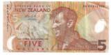 NOUA ZEELANDA 5 DOLARI ND VF