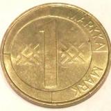 S1. FINLANDA 1 MARKKA MARCA 1993, 5 g., Aluminum-Bronze, 22.2 mm **, Europa