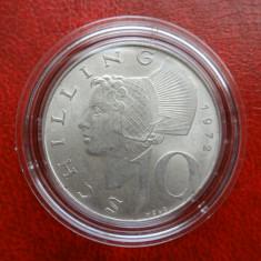 Moneda argint 10 Schilling 1972 in capsula Lindner
