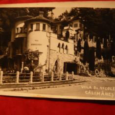 Ilustrata Calimanesti - Vila Nicolescu -cenzurata, cca.1941 - Carte Postala Oltenia dupa 1918