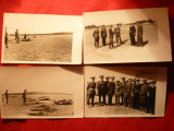 4 Fotografii -Armata romana la manevre , interbelice