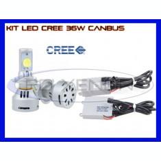 KIT LED LEDURI CREE 36W 12V, 24V - D2S -3200 LM, APRINDERE INSTANTA