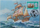 ROMANIA - COLUMB 500 ANI, 1 ILUSTRATA MAXIMA OBLITERATA PRIMA ZI - IM 0144