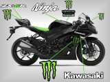 Kit autocolant moto stickere sticker autocolant Monster pentru kawasaki zx