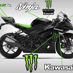 Kit autocolant moto stickere sticker autocolant Monster pentru kawasaki zx - Stickere tuning
