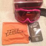 Ochelari Ski originali No Fear Lentila dubla, rama roz, fete