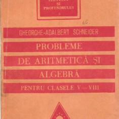 Gheorghe Adalbert Schneider-Problerme de aritmetica si algebra pentru clasele V-VIII