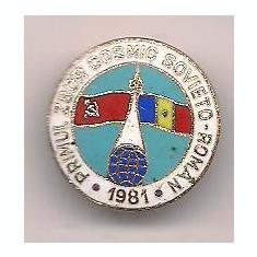 Insigna-PRIMUL ZBOR COSMIC SOVIETO-ROMAN