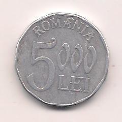 No(3) moneda-ROMANIA-5000 Lei 2003 foto