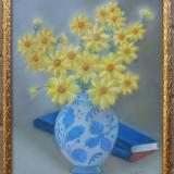 Flori galbene si carti - semnat  R.Dubray '67
