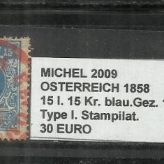 AUSTRIA 1858 - OSTERREICH - 15l. 15Kr.