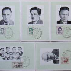 GERMANIA (DDR) 1962 - LUPTATORI ANTIFASCISTI, 5 ILUSTRATE MAXIME - IM 0102