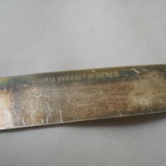 Coupe papier cutit corespondenta marcat Silver pe lama cu o patina minunata - Metal/Fonta