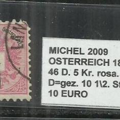 AUSTRIA 1883 -46 D.. 5 Kr.