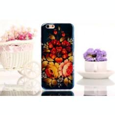 "Husa silicon TPU florala Iphone 6 Plus 5.5"" + folie protectie ecran + expediere gratuita Posta"