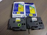 SET 4 bucati - banda de etichetat laminata de 6mm si de 24mm TZE-651 TZE-611 -