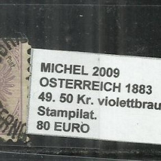 AUSTRIA 1883 -49. 50 Kr.
