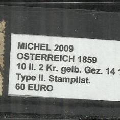 AUSTRIA 1859 - OSTERREICH - 10ll. 2 Kr.