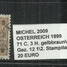 AUSTRIA 1899 - 71 C. 12 1\2,