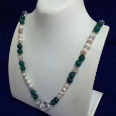 Colier din Perle cu metal aurit - Colier perle