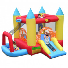 Complex de joaca gonflabil 4 in 1 pentru copii intre 3 si 10 ani, 300 x 280 x 210 cm, folosit de 3 ori - Spatiu de joaca Altele, 0-12 luni, Unisex, Multicolor