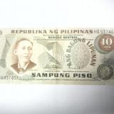 BANCNOTA - FILIPINE - 10 PISO