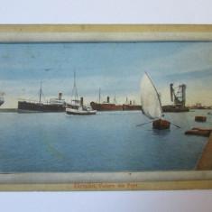 C.P. BRAILA, VEDERE DIN PORT 1901 - Carte Postala Dobrogea 1904-1918