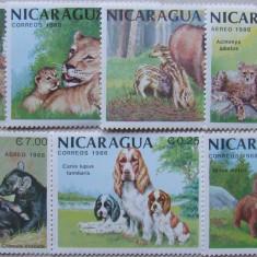 NICARAGUA 1988 - ANIMALE SALBATICE, 7 VALORI NEOBLITERATE - E1162