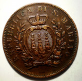 F.566 SAN MARINO 10 CENTESIMI 1875, Europa