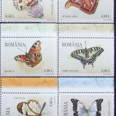ROMANIA - FLUTURI, 6 VALORI NEOBLITERATE - RO 0044