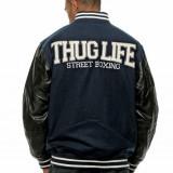 Geaca barbati Thug Life Street Boxing de colegiu, Marime: M, XL, XXL, Culoare: Bleumarin