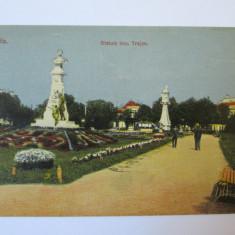 C.P. BRAILA, STATUIA IMPARATULUI TRAJAN ANII 1910 - Carte Postala Dobrogea 1904-1918