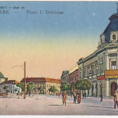 Satu Mare, Piata I.C.Bratianu, necirculata, animatie, trasura, cca.1917 - Carte Postala Crisana 1904-1918