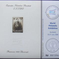 ROMANIA 2008 - EFIRO, 1 S/S NEOBLITERATA - RO 0041
