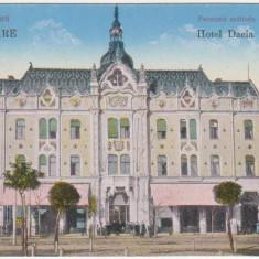 Satu Mare, Hotel Dacia, necirculata, animatie, 1916 - Carte Postala Crisana 1904-1918