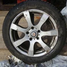 Jante Aliaj 17 5x120 cu Anvelope Michelin Alpin 225 50 17 pentru iarna impecabile Opel Insignia sau alte modele 5x120 et 41 - Janta aliaj Opel, Numar prezoane: 5