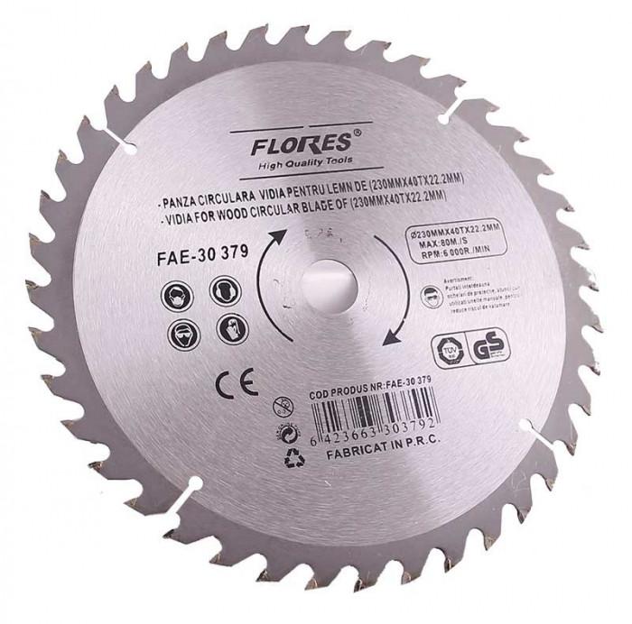 Panza fierastrau circular cu pastile vidia pentru lemn 125mmX24TX22.2mm
