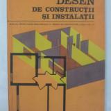 Desen de construcţii şi instalaţii, manual licee industriale  de construcţii
