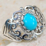 Inel Art Nouveau Style (Ag 925): TURCOAZ!!! - Inel argint